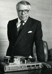 Credit Courtesy of the Kudelski Group Stefan Kudelski poses with the Ampex-Nagra VPR-5 portable recorder in an undated photograph. The devices were used to record the 1986 FIFA World Cup in Mexico.